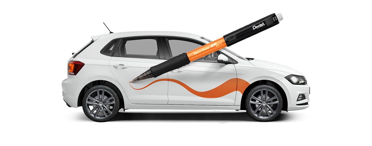 Grafický návrh polepu auta