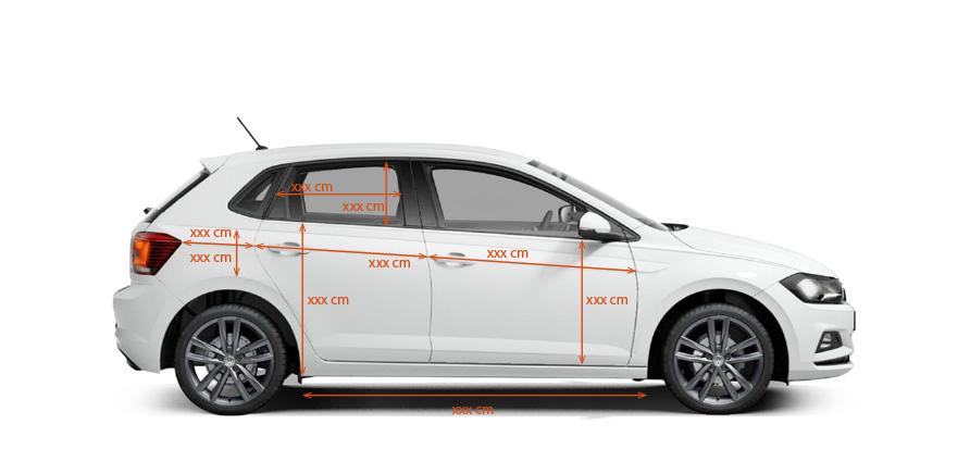 Grafický návrh polepu auta - rozmery